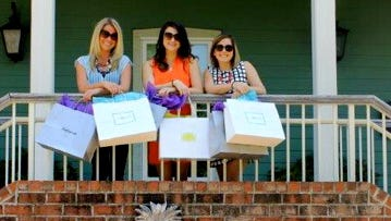 From left, Lauren Williams, Lauren Smith and Sarah Randle see summer off with a day of shopping and a night on the town while staying at the Lee House Bed & Breakfast.