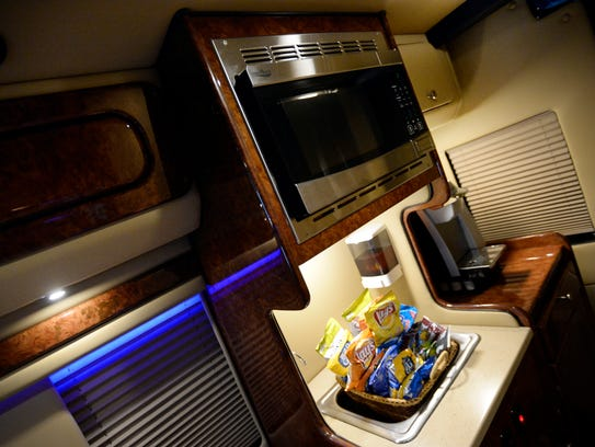 A Steps Ahead Mercedes Sprinter extended van is modified