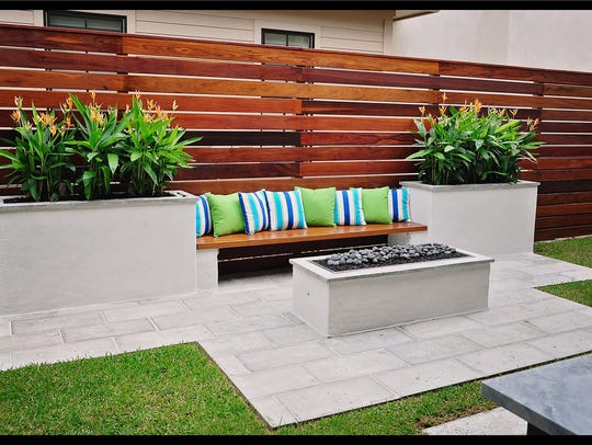 There is lots of space for outdoor entertaining.