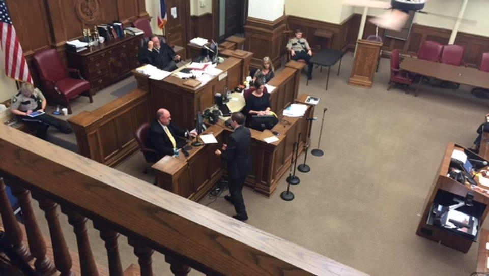 Crime Scene Investigator Jeff Byrd testifies today