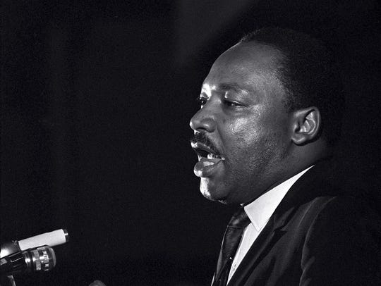 The Rev. Martin Luther King Jr.'s final appearance