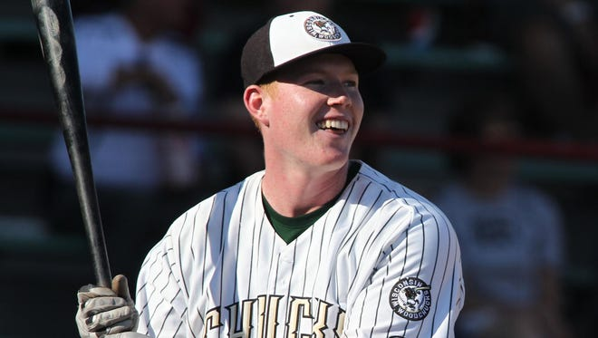 The Wisconsin Woodchucks' Albee Weiss has been one of the top power hitters in the Northwoods League this summer, coming into Wednesday tied for the league lead with 12 home runs.
