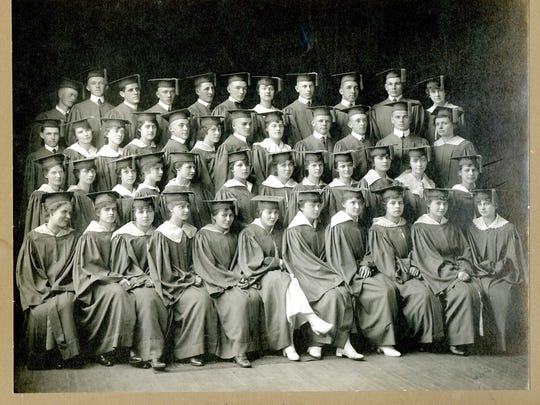 The Technical High School graduating class of 1917.
