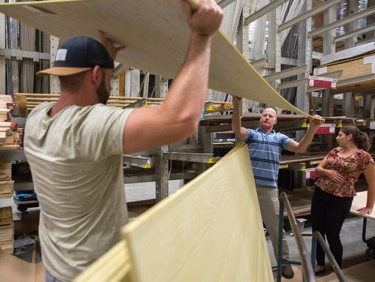 Customers purchased plywood and other hardware provisions