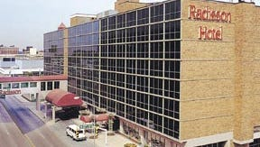 The newly-renamed Radisson Hotel