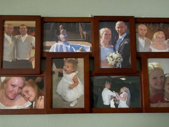 Family photos hang in Dorothie Bonfanti's Forked River