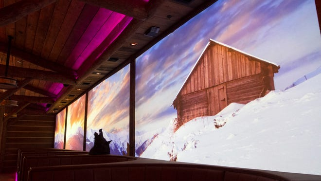 The Lodge devotes an entire wall to projected mountain scenes. The screens can also be used to show big games, like the Super Bowl.