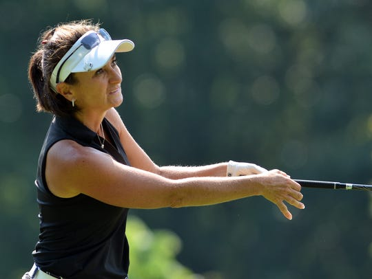 Amy Kennedy, seen here in a file photo, is the four-time defending Women's York County Amateur golf champion. YORK DISPATCH FILE PHOTO