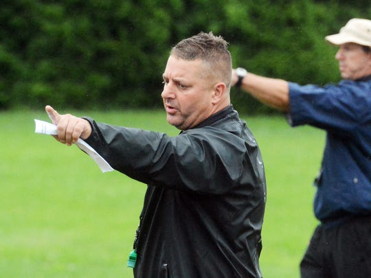 Head coach Eric DePew has guided York Catholic to five straight District 3 championship games. DISPATCH FILE PHOTO