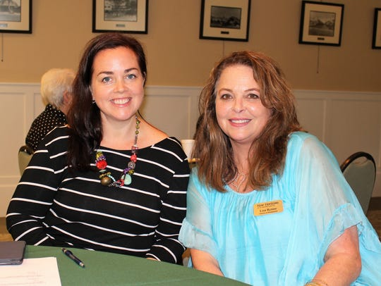Andrea Berry, left, and Lisa Rymer at the Association