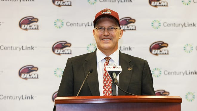 Nick Floyd is introduced as ULM's new athletic director on  Thursday morning in the university conference center on the seventh floor of the library.