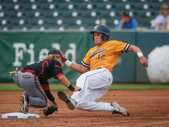 Iowa City Regina's Blake Berns was called out after