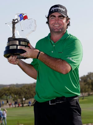 Steven Bowditch celebrates his first career PGA Tour victory.