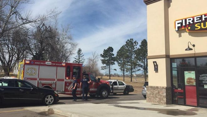 Police and an ambulance are on scene at Firehouse Subs, 5200 E. Arrowhead Parkway, where a strong-armed robbery was reported Monday.