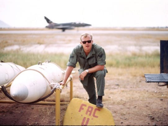 John Jetson served in Vietnam in 1969. Here he is with