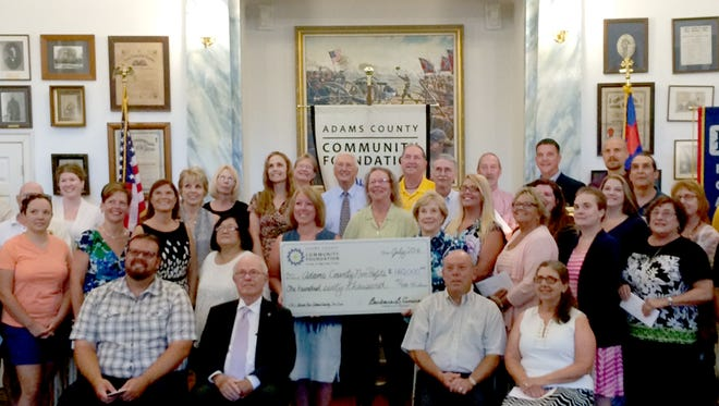 Organizations received checks from the Adams County Community Foundation at the 2016 Big Give on July 27 in Gettysburg.