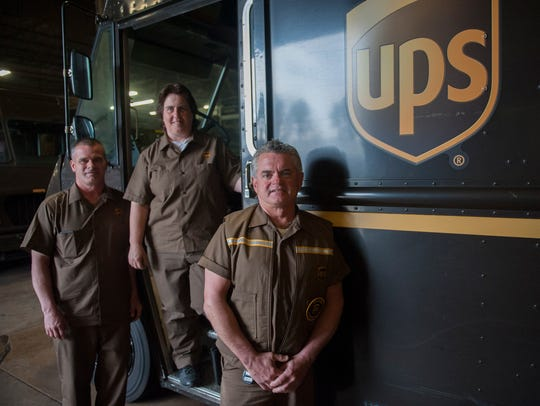 UPS Package Delivery Drivers (R to L) Rich Berkey of