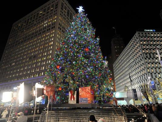 Detroit Christmas tree lighting