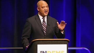 U.S. Rep. Andre Carson (seen during the Indiana Democratic State Convention on June 18, 2016) spoke Wednesday, July 27, 2016, at the Democratic National Convention in Philadelphia.