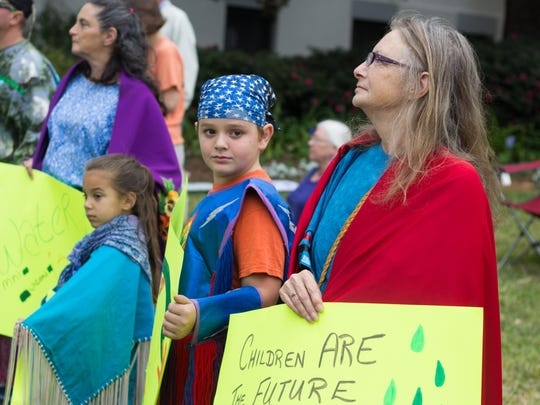 Tallahassee's protest coincided with the day the Army Corps of Engineers announced it would reroute the Dakota Access Pipeline.