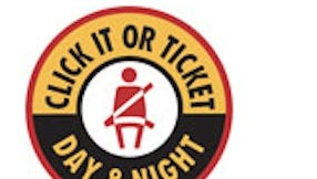 New York State Police Click It or Ticket logo, 2014.