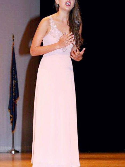 Rose Arbittier performing during the talent portion of the Distinguished Young Women competition. (Submitted)
