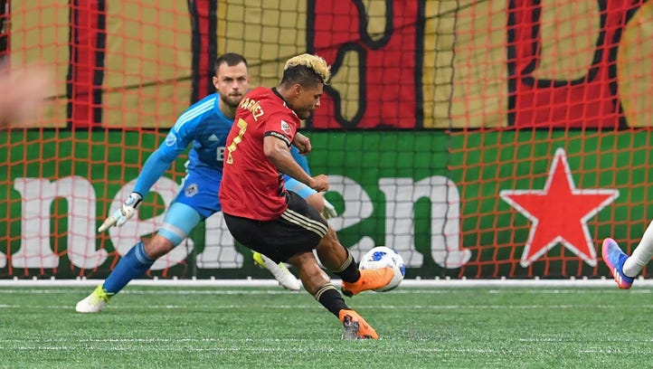 Josef Martinez of Atlanta United gets hat trick, now one short of MLS record