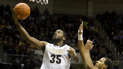 Purdue junior Rapheal Davis has seen the team's offseason workouts pay off in his jumping ability.
