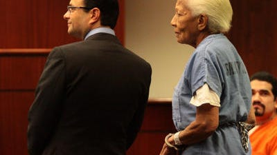 Prolific jewel thief Doris Payne, shown in this Desert Sun file photo, is scheduled to appear in Riverside County Superior Court Thursday on accusations she violated probation.