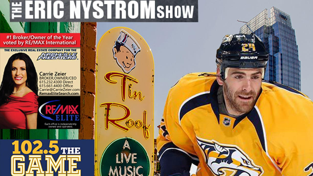 Tune in and watch as The Tennessean and ESPN 102.5 The Game host The Eric Nystrom Show from the Tin Roof in downtown Nashville.