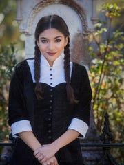 "Valeria Ceballos plays Wednesday Addams in ""The Addams"