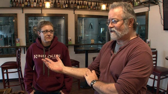 Chip and Jacqui Town are interviewed at Rinn Duin Brewing in Toms River, NJ, on November 2, 2014.  TOMS RIVER, NJ