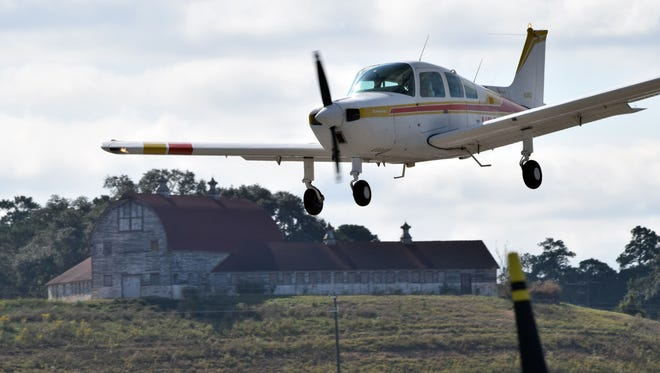 A plane comes in for a landing at Pineville Municipal Airport. The Louisiana EAA Fly-in Series Event was held Saturday at the Pineville Municipal Airport.