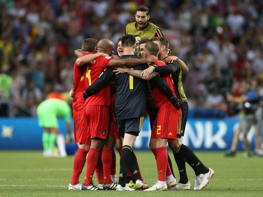 Soccer: World Cup-Belgium vs Brazil