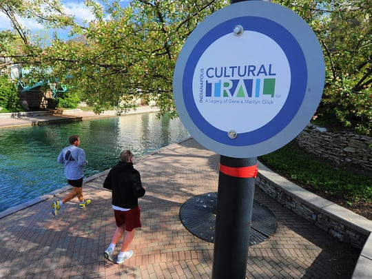 The Indianapolis Cultural Trail, this segment is along the Canal.