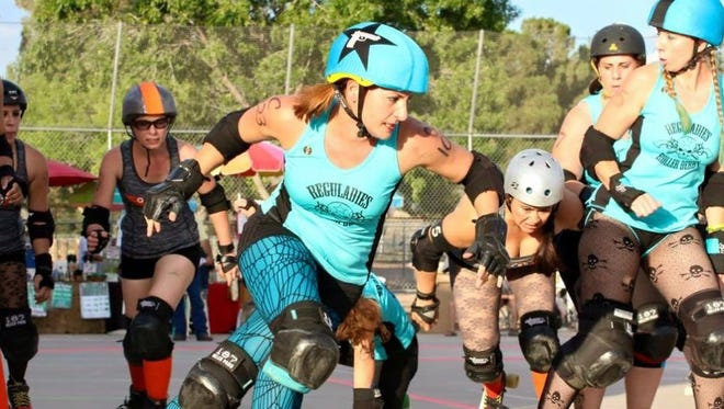 Crossroads City Derby's home teams, the Spitfire Sallies and the Reguladies, will duke it out in the Birds vs. Bees roller derby bout on Saturday, June 23.