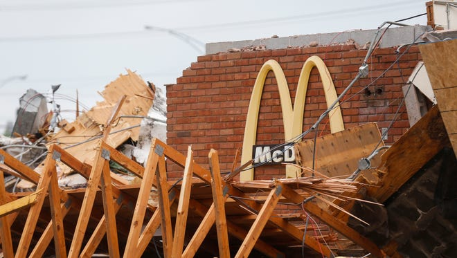 The McDonald's located at 1607 E. Battlefield Road, which was built in 1976, was demolished on Thursday, May 10, 2018. The restaurant will be rebuilt and opened in August according to a billboard located near the site.
