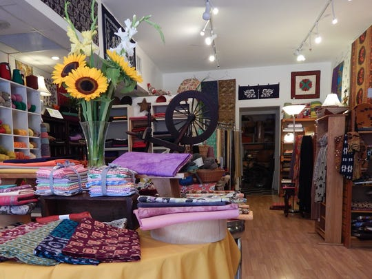 Interior of the SewGreen store at 112 North Cayuga St.