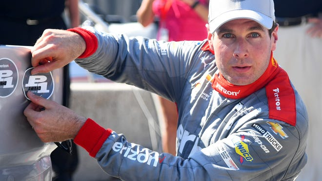 IndyCar Series driver Will Power (12) wins the pole award in qualifying for the Kohler Grand Prix at Road America. He also won Sunday's race.