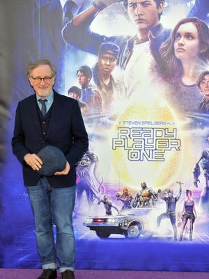 "Steven Spielberg attends the Premiere of Warner Bros. Pictures' ""Ready Player One"" at Dolby Theatre in Hollywood, California."