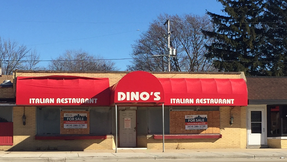 The former Dino's Italian Restaurant, which closed