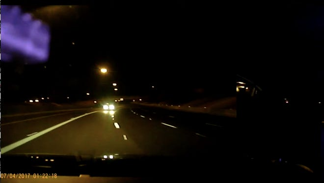 From Kelly Knoll's dashboard-camera video.