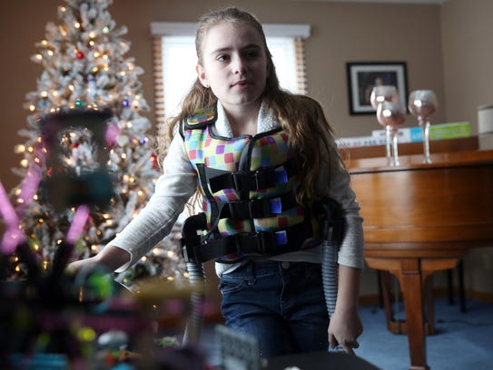 Brianna Collichio, 11, combats Cystic Fibrosis by wearing
