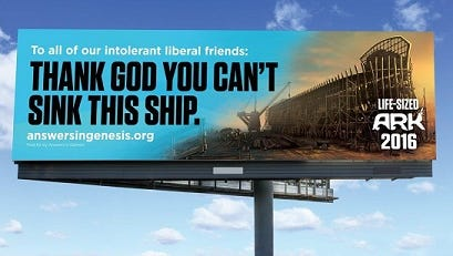 A billboard campaign is being launched for Ark Encounter, a Noah's Ark-themed park planned in Kentucky's Grant County.