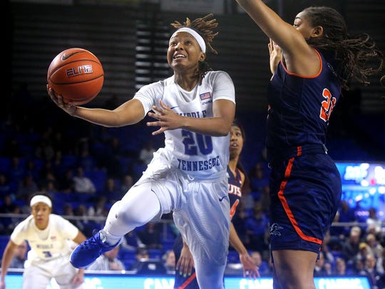 MTSU's Ty Petty (20) ranks in the Top 5 in scoring