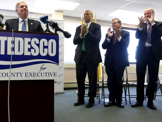 Bergen County Executive, Jim Tedesco, got a standing