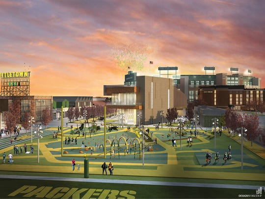 When weather warms, the 10-acre Titletown park is meant