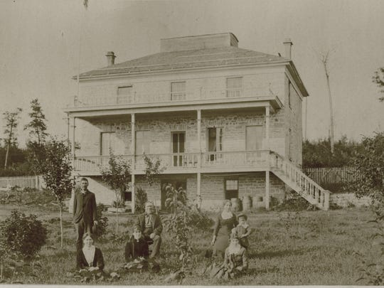 In 1949, when Door County Museum curator Harry Dankoler held a contest to determine which Door County properties had remained in their families the longest, Mr. and Mrs. Emil Hanson came in third, still owning the Bayshore Drive land that her ancestor, Robert Laurie, had purchased in 1854. The photo shows Robert and Catherine Laurie with their children.