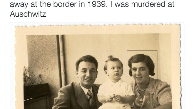 One of the many tweets posted Friday to the @Stl_Manifest Twitter account. The account posted photos of Holocaust victims once turned away at the U.S. border.