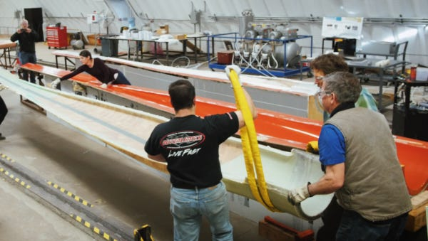 The Institute for Advanced Composites Manufacturing Innovation has developed an improved process and materials for making wind turbine blades.